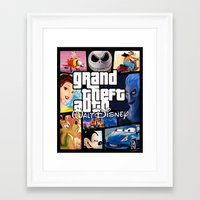 gta v Framed Art Prints featuring Disney GTA by nightfrost4