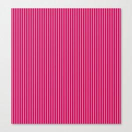 1Red- crimson striped Canvas Print
