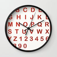 alphabet Wall Clocks featuring Alphabet by Sébastien BOUVIER