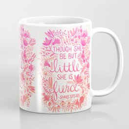 Little & Fierce – Pink Ombré Coffee Mug