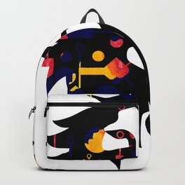 Abstract African Lion Backpack