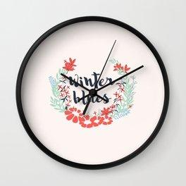 Winter Blues 002 Wall Clock