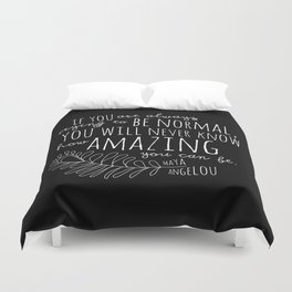 Inspirational Art Print // Maya Angelou Quote // How Amazing You Can Be Typographic Print // Modern Duvet Cover