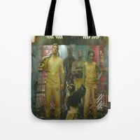 guardians of the galaxy Tote Bags featuring Guardians of The Galaxy by Kelsey