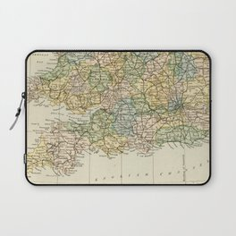 England and Wales Vintage Map Laptop Sleeve