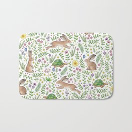 Spring Time Tortoises and Hares Bath Mat