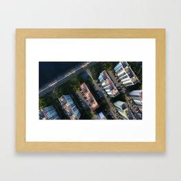 sea, trail, apartment Framed Art Print