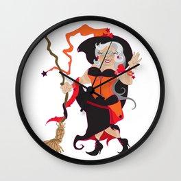 Granny Hex (Orange) Wall Clock