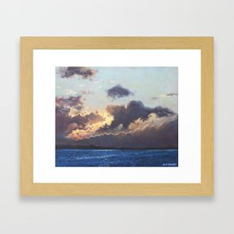 Sunset on the Solent Framed Art Print