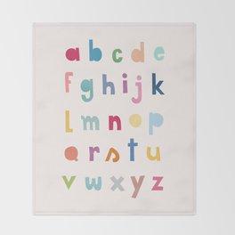 ABC alphabet art Throw Blanket
