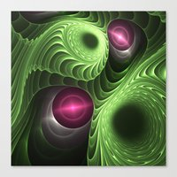 fractal Canvas Prints featuring Fractal by nicky2342