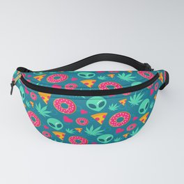 420 Cannabis Aliens Pizza Pattern Gift Fanny Pack