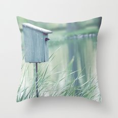 {Swallow House} Throw Pillow
