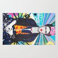 frida kahlo Area & Throw Rugs featuring Frida Kahlo by Paola Gonzalez