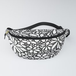 Outlined Daisies Fanny Pack
