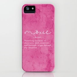 Moxie Definition - Pink Texture Wall iPhone Case