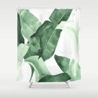 calm Shower Curtains featuring Beverly II by THE AESTATE