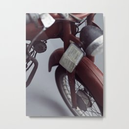 Fine art photography, old motorcycle, still life, vintage motorbike, Italy, mancave Metal Print