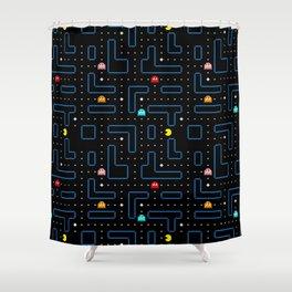 Pac-Man Retro Arcade Gaming Design Shower Curtain