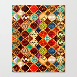-A32- Epic Colored Traditional Moroccan Artwork. Canvas Print