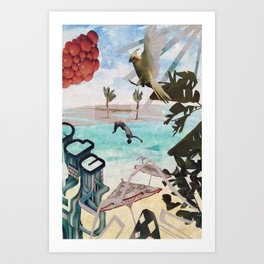 Surrealist Summer Art Print