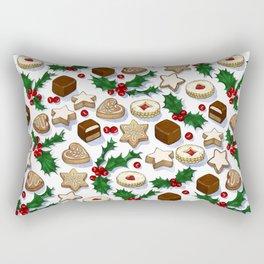 Christmas Treats and Cookies Rectangular Pillow