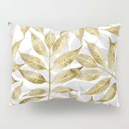 Modern gold autumn leaves design Pillow Sham