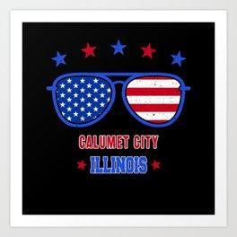 Calumet City Illinois Art Print