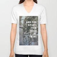 medicine V-neck T-shirts featuring Medicine  by AEP Designs