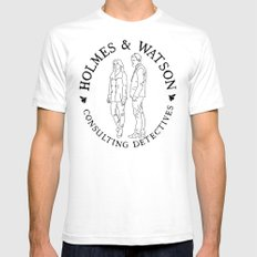 holmes and watson stamp White SMALL Mens Fitted Tee