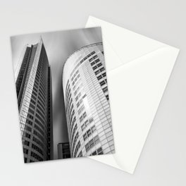 Curved towering skyscrapers at Aurora Place in Sydney Stationery Cards