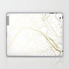 Paris Gold and White Street Map II Laptop & iPad Skin