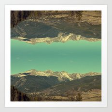 good afternoon mountains Art Print
