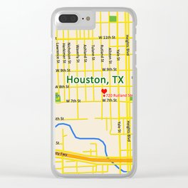Map of Houston TX #1 Clear iPhone Case
