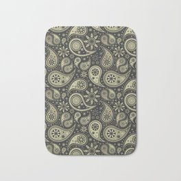 Brown and Tan Paisley Design Pattern Background Bath Mat