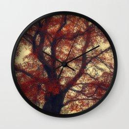 Copper Beech Wall Clock