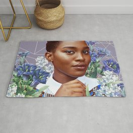 Zahra with Blue Flowers Rug