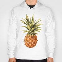pineapples Hoodies featuring Pineapples Pattern by JunkyDotCom