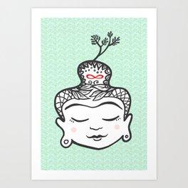 Buddha infinity Art Print