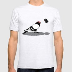 Pigeon and head Mens Fitted Tee Ash Grey LARGE