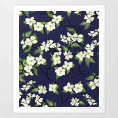 April blooms(Dogwoods_blue) Art Print