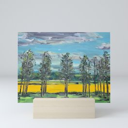 Yellow fields of the Loire Valley, France Mini Art Print