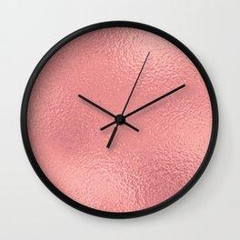 Simply Metallic in Warm Rose Gold Wall Clock