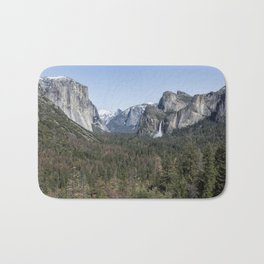 Tunnel View of Yosemite During Spring Bath Mat