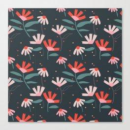 Petals & Polka Dots Canvas Print