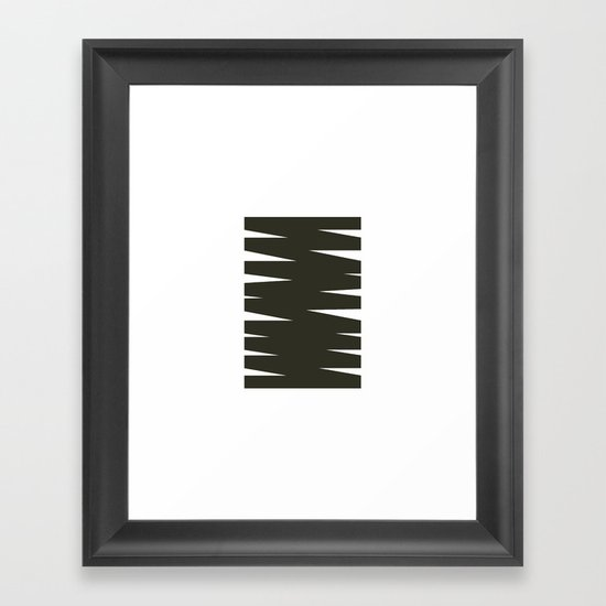 #411 Monument scribble – Geometry Daily Framed Art Print