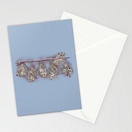 Possum Family - Blue Grey Stationery Cards