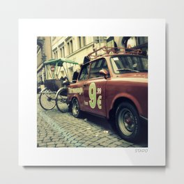 Carriage Ride to Massage Place in Prague Metal Print