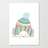 hat Canvas Prints featuring Hat by Samantha Eynon