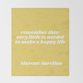 little is needed - aurelius quote Throw Blanket